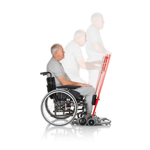Sit-to-stand aid | Handicare SystemRoMedic ReTurn user – VIVA Mobility
