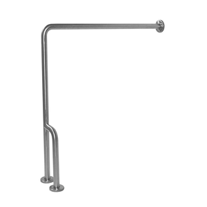 "Wall-to-Floor Grab Bar (30""x33"") – Stainless Steel, Satin"