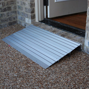 American Access Hero threshold ramp at house front door – Wheelchair Ramps | VIVA Mobility