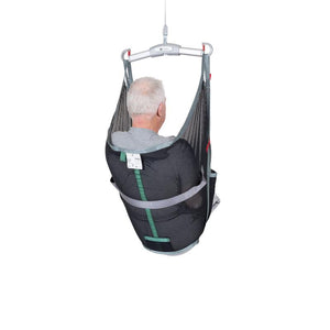 Handicare AmpSling Polyester Net user back view — Patient Slings | VIVA Mobility
