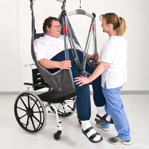 Handicare BariSling user being transferred to wheelchair – Patient Slings | VIVA Mobility