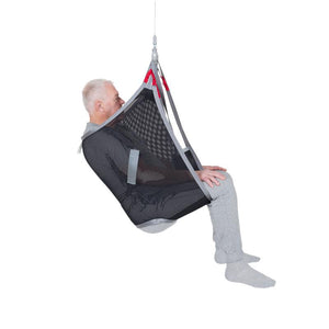 Handicare BasicSling polyester net user side view — Patient Slings | VIVA Mobility