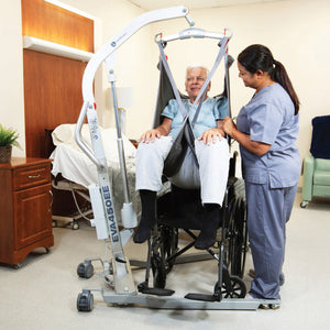 Handicare SystemRoMedic Eva 450EE user transferred from wheelchair – Patient Handling | VIVA Mobility