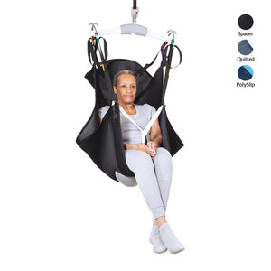 Handicare Hammock Sling with head support in Spacer fabric front view | Patient Slings - VIVA Mobility