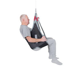 Handicare LowBackSling user polyester net fabric side view — Patient Slings | VIVA Mobility