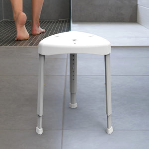 HealthCraft height adjustable Shower Stool in bathroom – Bathroom Safety | VIVA Mobility