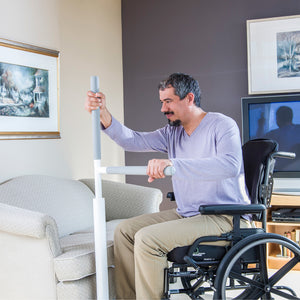 HealthCraft Advantage Rail wheelchair user transfer – Home Safety Solutions | VIVA Mobility