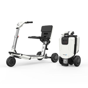 MovingLife ATTO Mobility Scooter and Folded Trolley Suitcase | VIVA Mobility