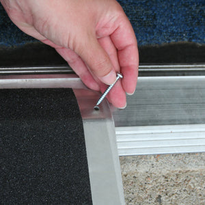 PVI Aluminum Standard Threshold Ramp includes all hardware for installation | VIVA Mobility