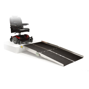 PVI Bariatric Multifold Ramp safe for power wheelchairs | VIVA Mobility