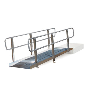 PVI OnTrac Portable Solid Surface Ramp with handrails | VIVA Mobility