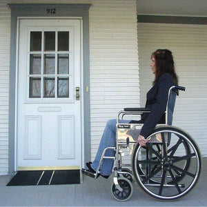 PVI Self-Supporting Solid Surface Threshold Ramp home user | VIVA Mobility