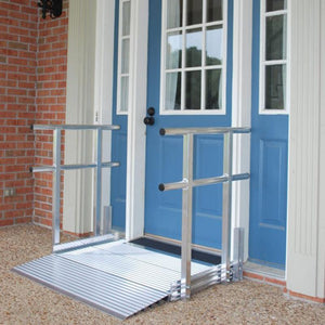 American Access BIG Lug Threshold Ramp on home entry – Wheelchair Ramps | VIVA Mobility