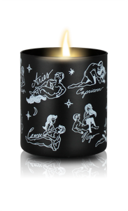 Cosmic Love Zodiac Massage Candle, Garden Floral Fragrance