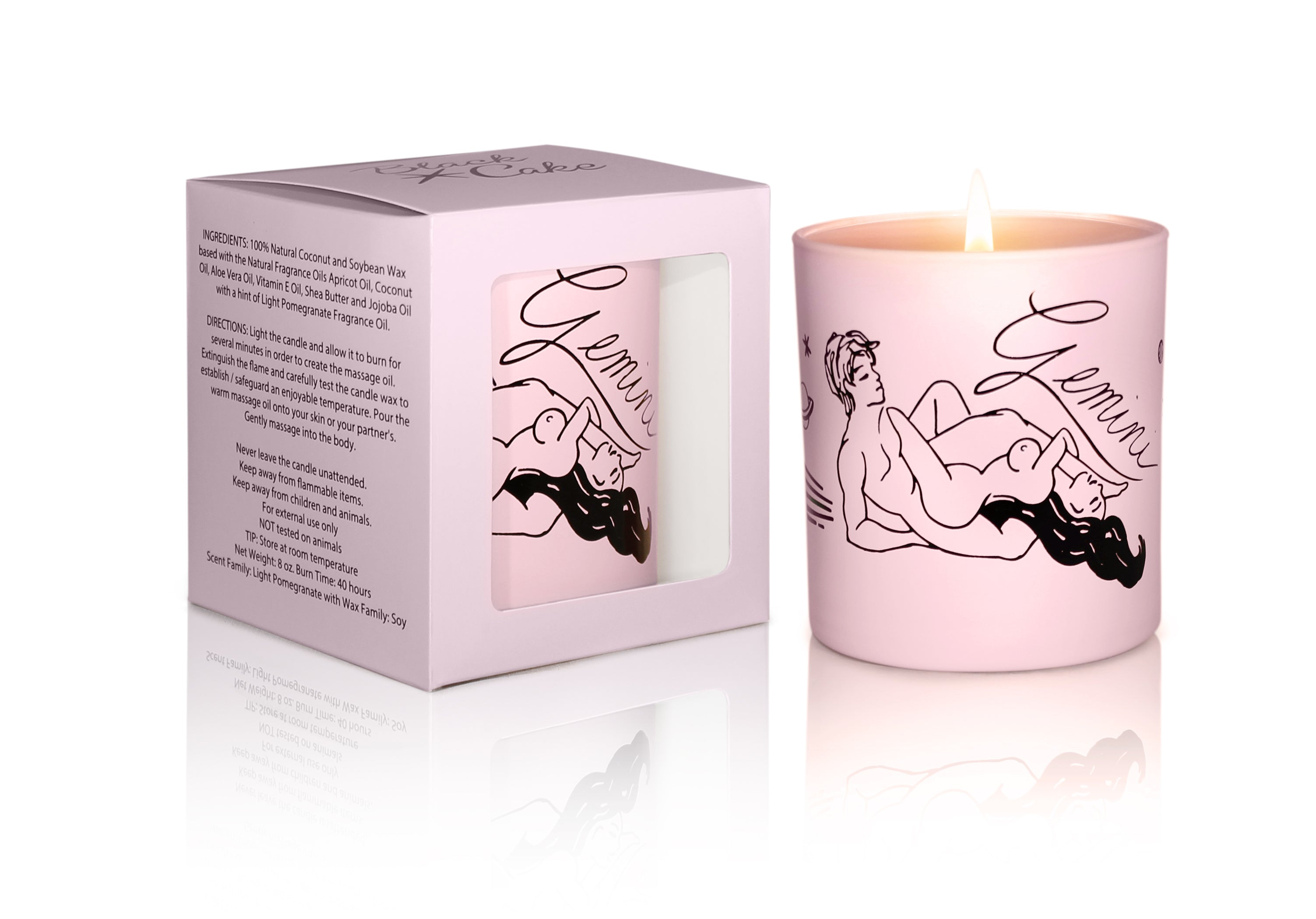 Zodiac Massage Candle Gemini, Pomegranate Fragrance