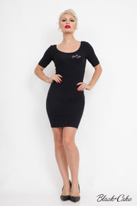BLACK CAKE CLOTHING SIGNATURE LOGO DRESS