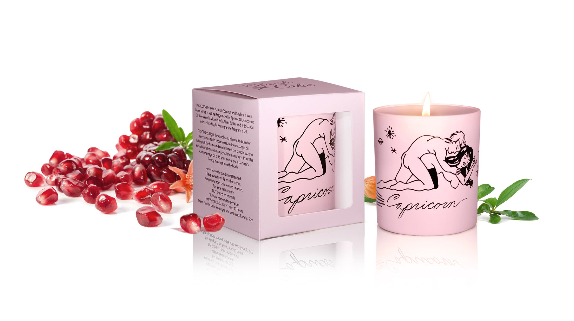 Zodiac Massage Candle Capricorn, Pomegranate Fragrance