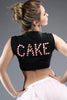 Black Cake Cake Yum Bling Bling Cropped Tee
