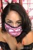 Sexy Pink Satin Kama Sutra Zodiac Sign Fashion Face Mask by Black Cake Clothing