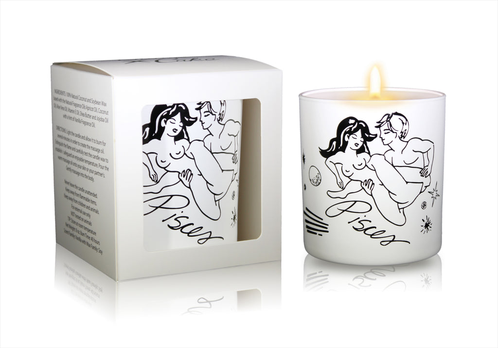 Zodiac Massage Candle Pisces, Vanilla Fragrance