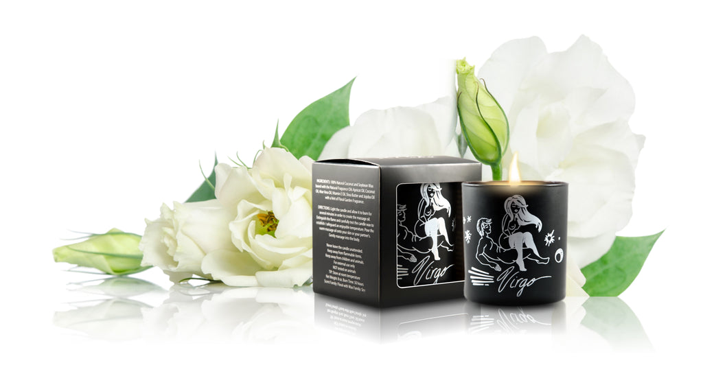 Zodiac Massage Candle Virgo, Garden Floral Fragrance