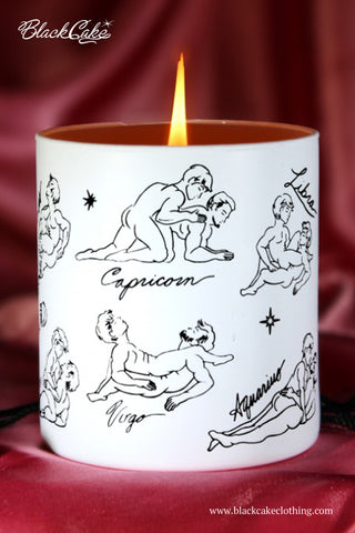 Zodiac Massage Candle Scorpio, Vanilla Fragrance