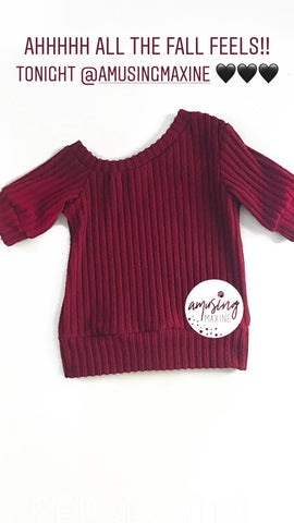 Burgundy Super Slouchy Sweater