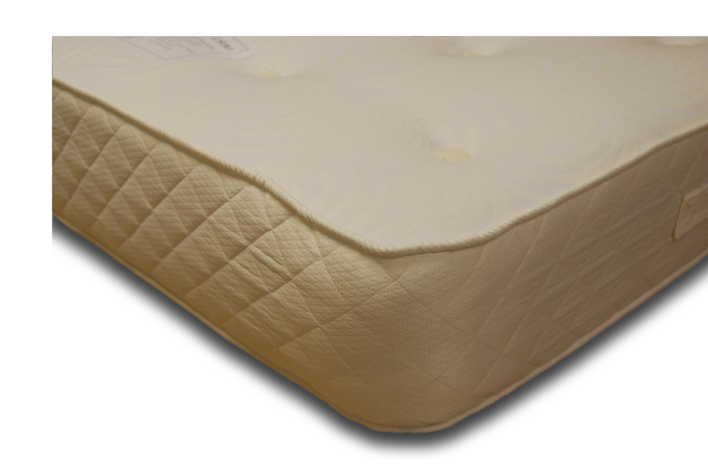The Bray Features: Comfort level - Firm tension, 1500 nestled pocket springs; Generous multi-quilted luxury poly-cotton fillings; 4-way stretch knit fabric; Reversible; Hand-tufted