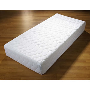 Features:  20cm thick mattress with medium feel; 5cm of high quality visco-elastic memory foam; Quilted 'cool memory' cover is machine washable with full anti-dustmite and hypo-allergenic properties
