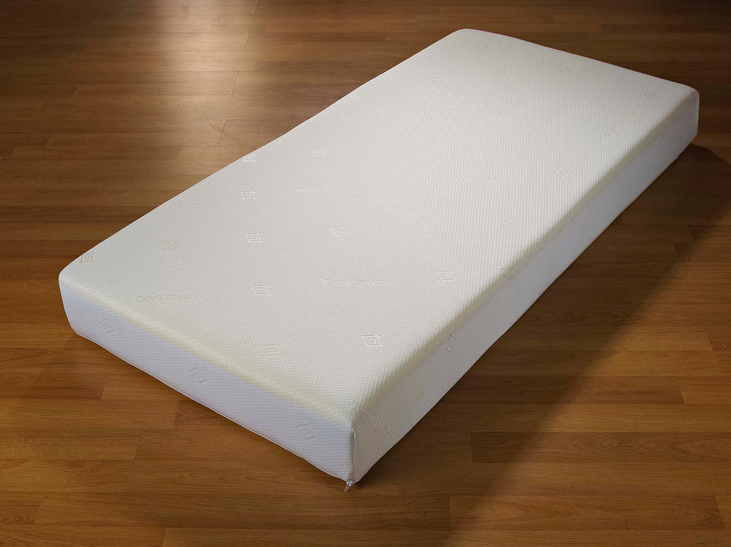 The Wycombe is a 15cm thick, high density foam mattress, available in both regular and firm tensions. Shown here in single size, available in all UK sizes.  It features a fully removable, machine washable cover, hypo-allergenic and anti-dustmite properties.