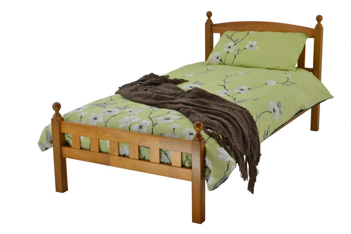 Flo Hardwood Bed Frame & Iver Memory Mattress Bundle