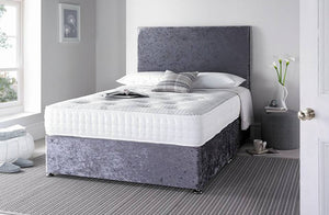 "Chalfont 1000 Features: Medium tension; 1000 nestled pocket springs; 2""/5 cm high grade memory foam with open cell technology; Duo pad insulator; Tencel 4 way stretch cover; Single sided - turn head to foot only. Base in choice of colours and storage options. UK sizes and made to measure on request. Estimated delivery 1 week"