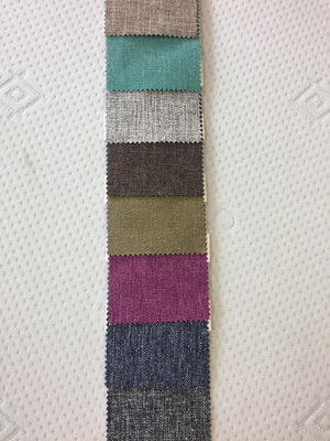 Fusion colours from top: Coffee, Teal, Silver, Bark, Lime, Lipstick, Stonewash, Granite