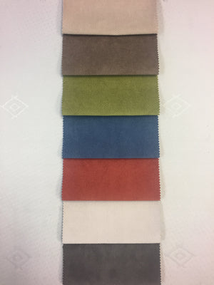 Verona colours from top: Champagne, Coffee, Citrus, Steel Blue, Terracotta, Ice, Graphite