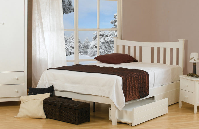 Snowdon White Hardwood Bed Frame