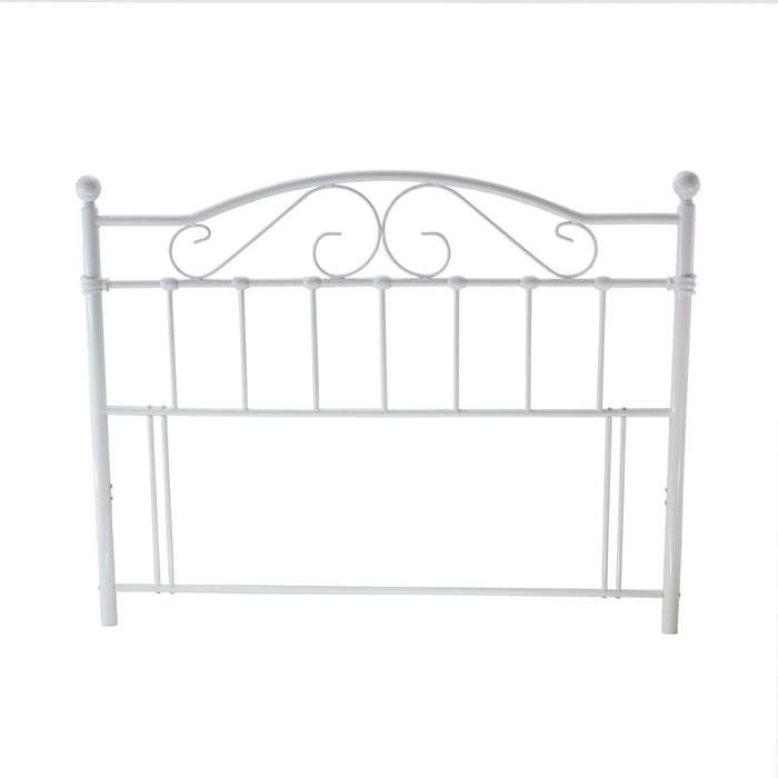 Selsey White Metal Floor Standing Headboard