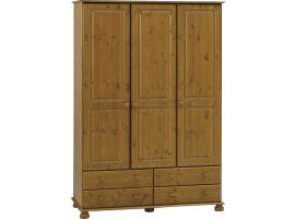 Surrey 3 Door 4 Drawer Robe