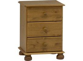 Surrey 3 Drawer Bedside