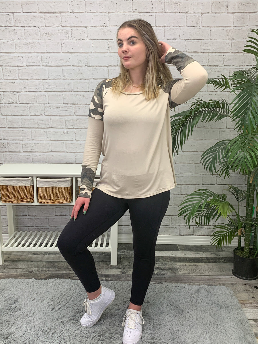 Layla Top - Sand Colour