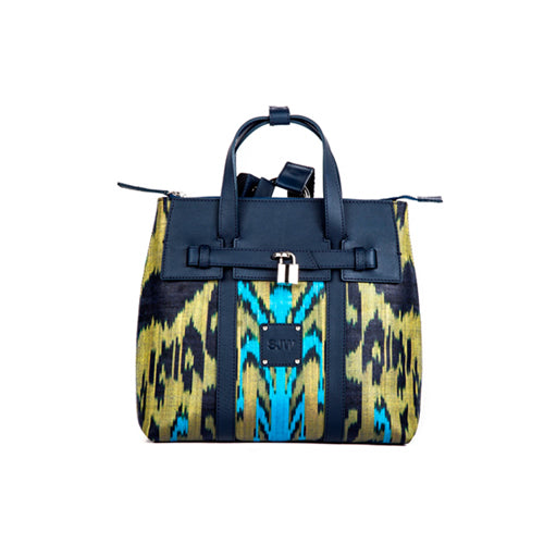 ABBEY IKAT BAG  - NAVY