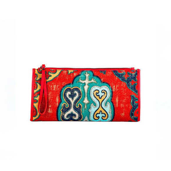 CLIFTON CLUTCH/BAG-RED