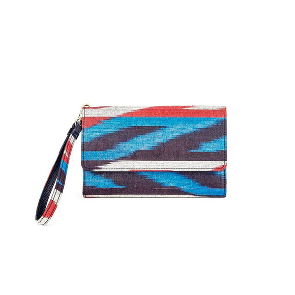 EYRE IKAT CLUTCH  - BLACK