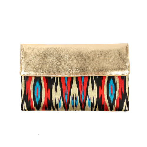 ELSWORTHY IKAT CLUTCH-GOLD