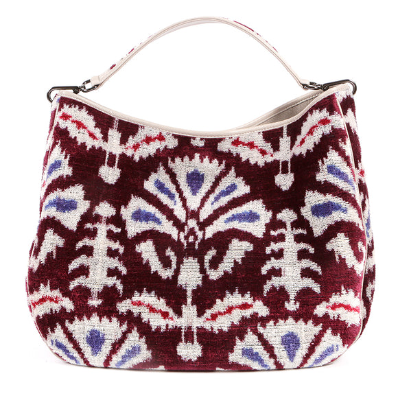 GARUDA VELVET IKAT BAG  - PURPLE