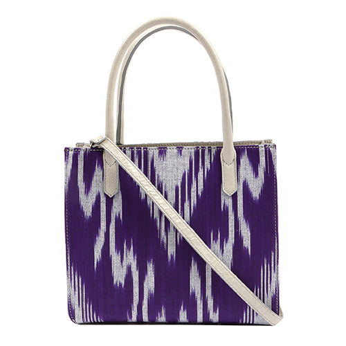 NORFOLK IKAT BAG-PURPLE