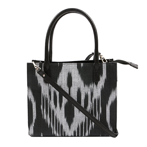 NORFOLK IKAT BAG-BLACK