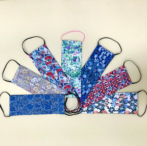 face covers made with Liberty fabrics