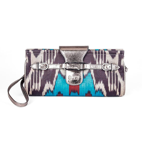 MAIDA IKAT CLUTCH/BAG - BRONZE