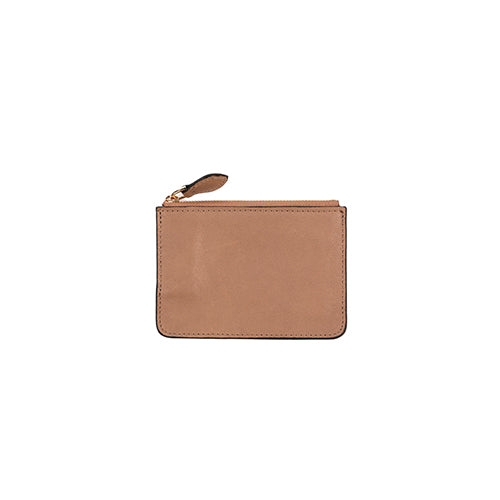 IVY MINI LEATHER WALLET - BEIGE
