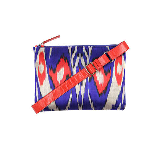 VIOLET IKAT CLUTCH/BAG